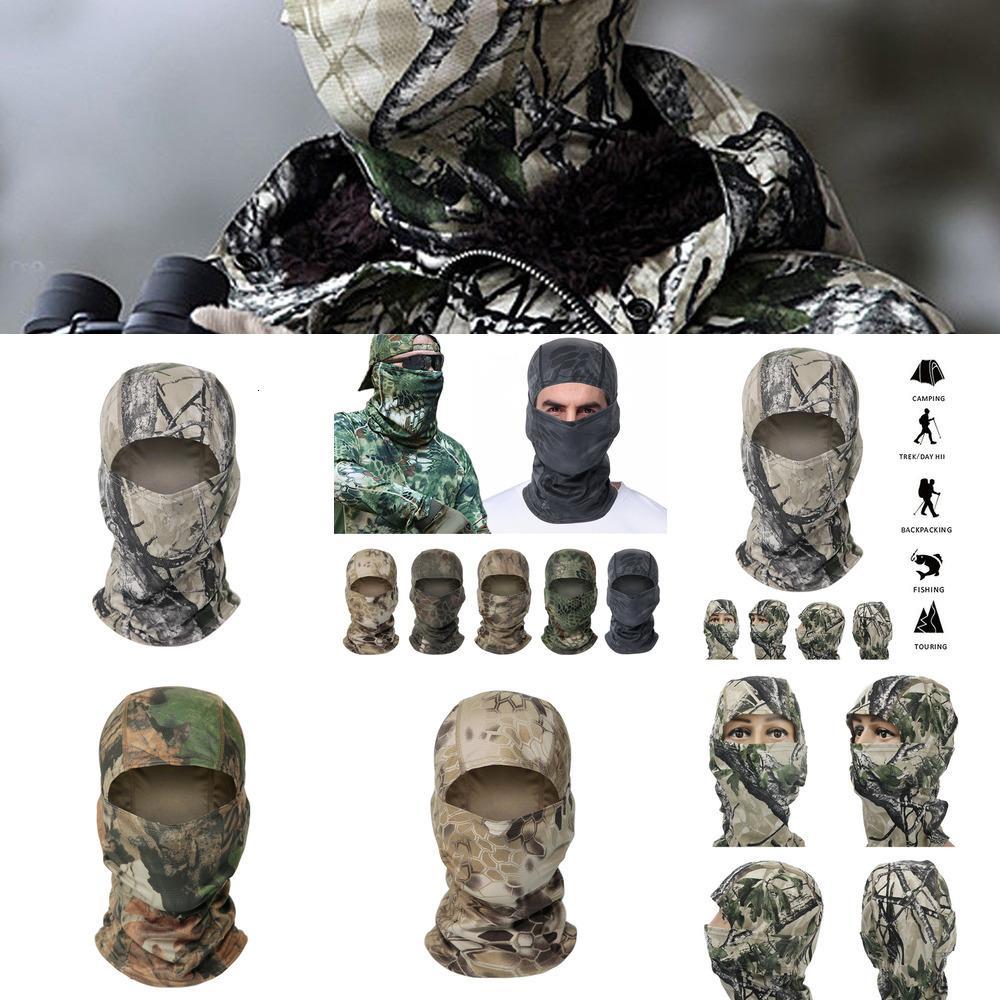 Camouflage Hood Masque tactique Balaclava Full Face Masque Ski Masque Militaire Militaire Chasse Tactique Sunscreen Cap Boche Cycli