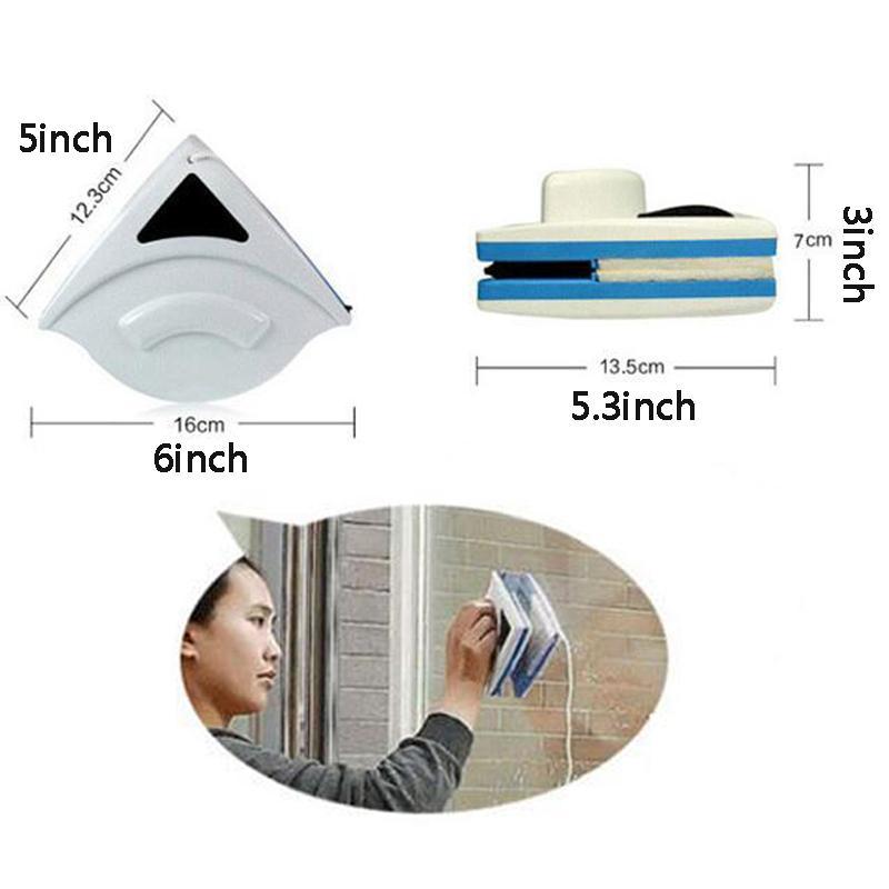 المغناطيسي زجاج نافذة تنظيف فرشاة أداة تنظيف البلاستيك ممسحة ضعف الجانب فرشاة ماسحات المحمولة النافذة المنزلية الأنظف BWD2606