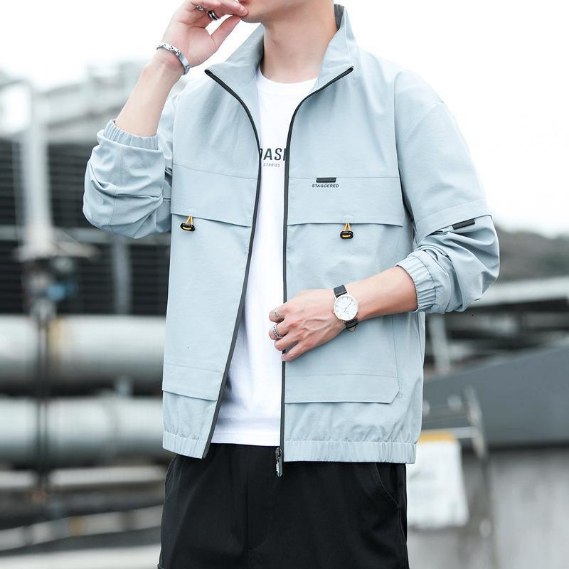 Cappotto casual coreano 2020 New Wear Youth Trend Versatile Stand Collar Giacca da uomo Top uomo