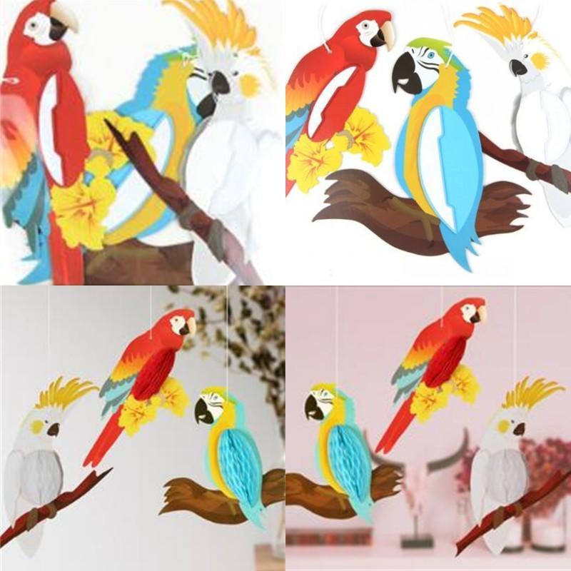 Papel Parrot Cuello Adornos Kid Habitaciones Loros Decoración Drop Ornament Hoja de niños Arreglo Colgante animal Nueva llegada 10 8SMA L1