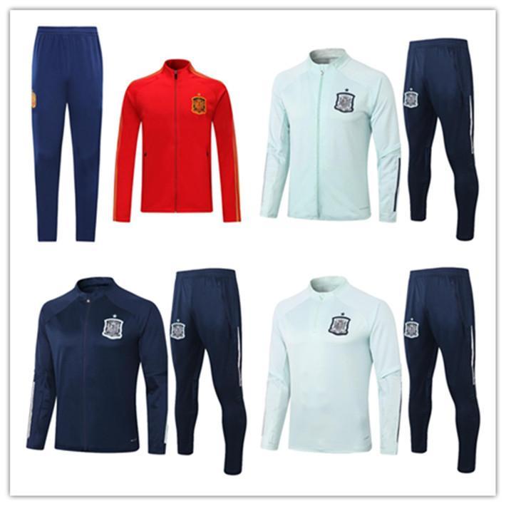 2020 Испания взрослых Jacket Tracksuit Camiseta españa RAMOS Пако Алькасер Мората Тьяго СОЛ FABREGAS 2020/21 Футбол куртка спортивный костюм