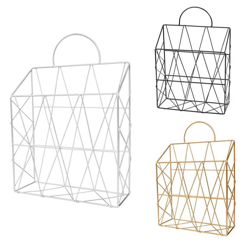Стека для нордировки металлического журнала Nordic, креативная настенная декоративная корзина, стойка для хранения рабочего стола