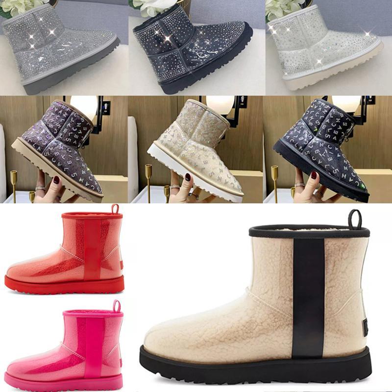 2021 مصمم الصوف الكلاسيكي الكشمير واضح 20 قصيرة الثانية الثلاثي أستراليا إمرأة المرأة التمهيد الشتاء أحذية الثلوج البسيطة فروي الجوارب الأسترالية
