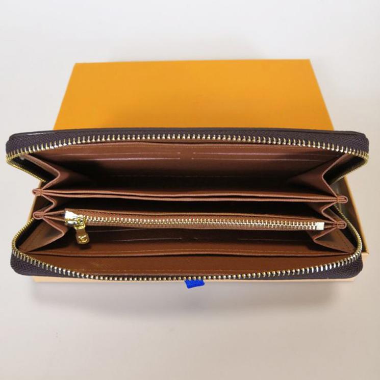 Zippy Wallet vertikal Die stilvollste Art, um Geldkarten und Münzen berühmter Designer-Männer-Leder-Geldbörse-Kartenhalter lange Konnungen zu tragen