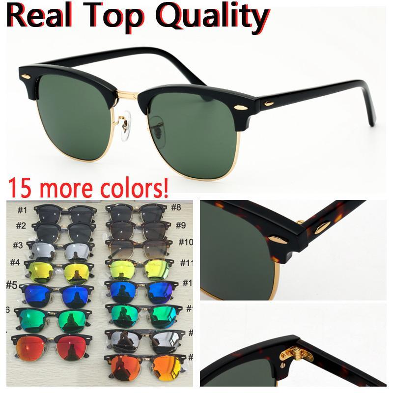 Designer lunettes de soleil soleil club de femmes mens verre uv protection des lentilles en verre avec étui en cuir noir ou brun, tous les emballages de vente au détail