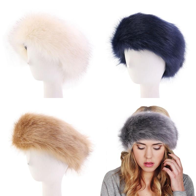 Womens Faux Fur Inverno Headband Mulheres Luxuoso Moda Cabeça Envoltório Earanharas De Pelúcia Capa Acessórios De Cabelo RRA2150 446 K2