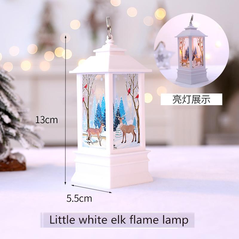 Nuovo prodotto Led piccola lampada di olio di simulazione di fiamma della lampada Finestra Bar ornamento portatile decorazioni chiare di Natale 011