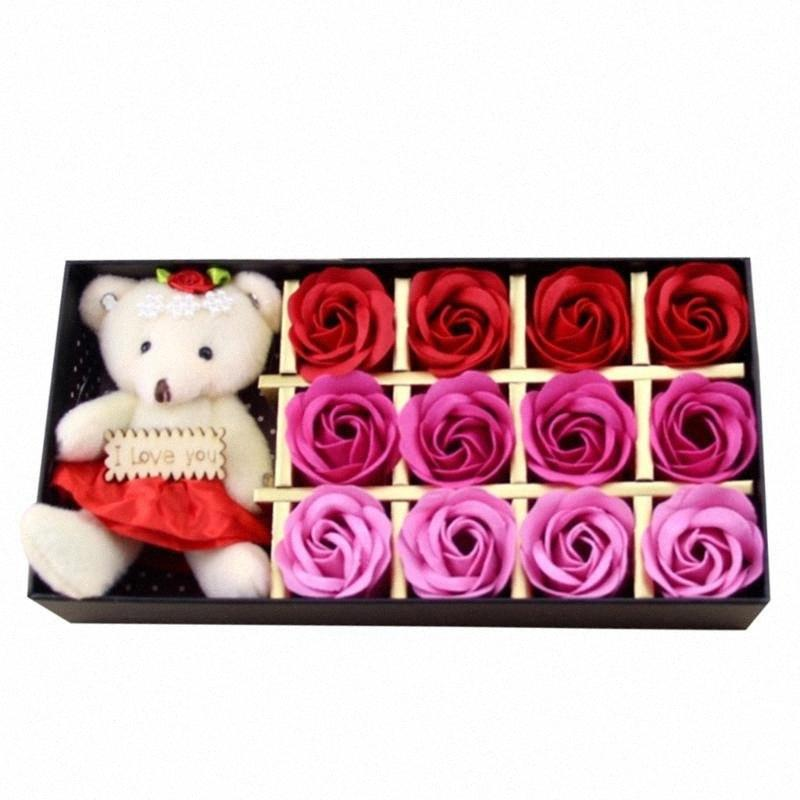 Journée Saint-Valentin cadeau créatif Fleurs artificielles Rose Bouquet décoration pour la maison de soirée de mariage Forever Love Sztuczne Kwiaty wXjs #