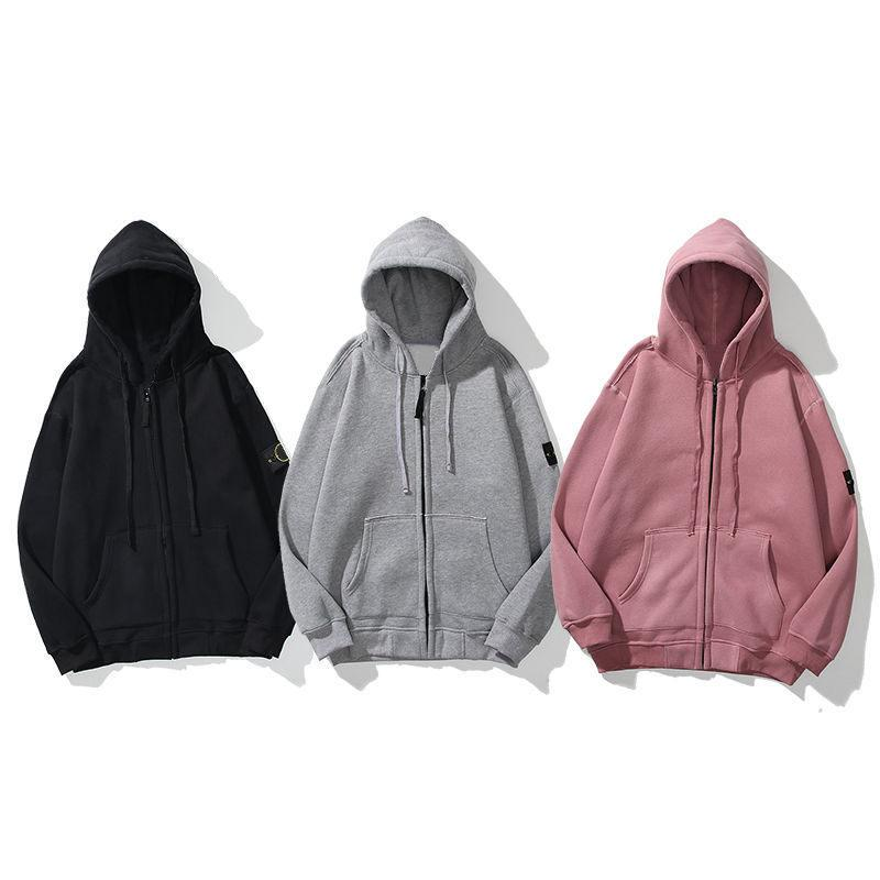 Moda Erkekler Kadınlar Hoodie Kazak Sonbahar Kış Hırka Fermuar 2020 Womens Yüksek Kaliteli Kazak Kol Rozeti Giyim Coat hoodies