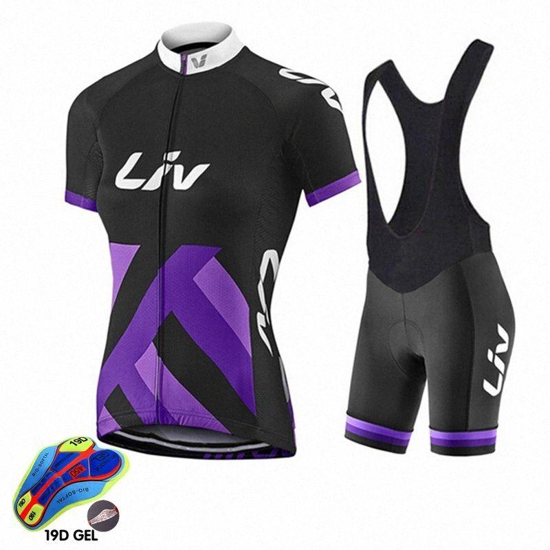 2020 2020 Maillot cyclisme Set Femme LIV VTT Vêtements Vélo Eté Vélo Vêtements Vélo Set Maillot Conjunto Ropa Ciclismo m2eE #