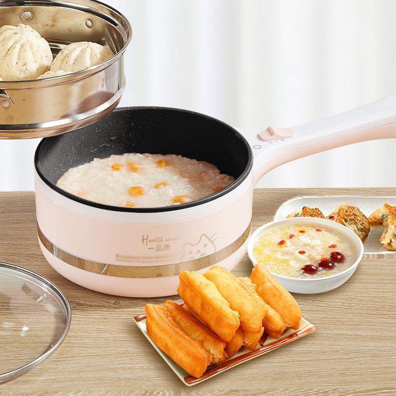 المقالي الكهربائية المحمولة البسيطة متعدد المعكرونة طباخ وعاء الباخرة مقلاة عصيدة الأرز