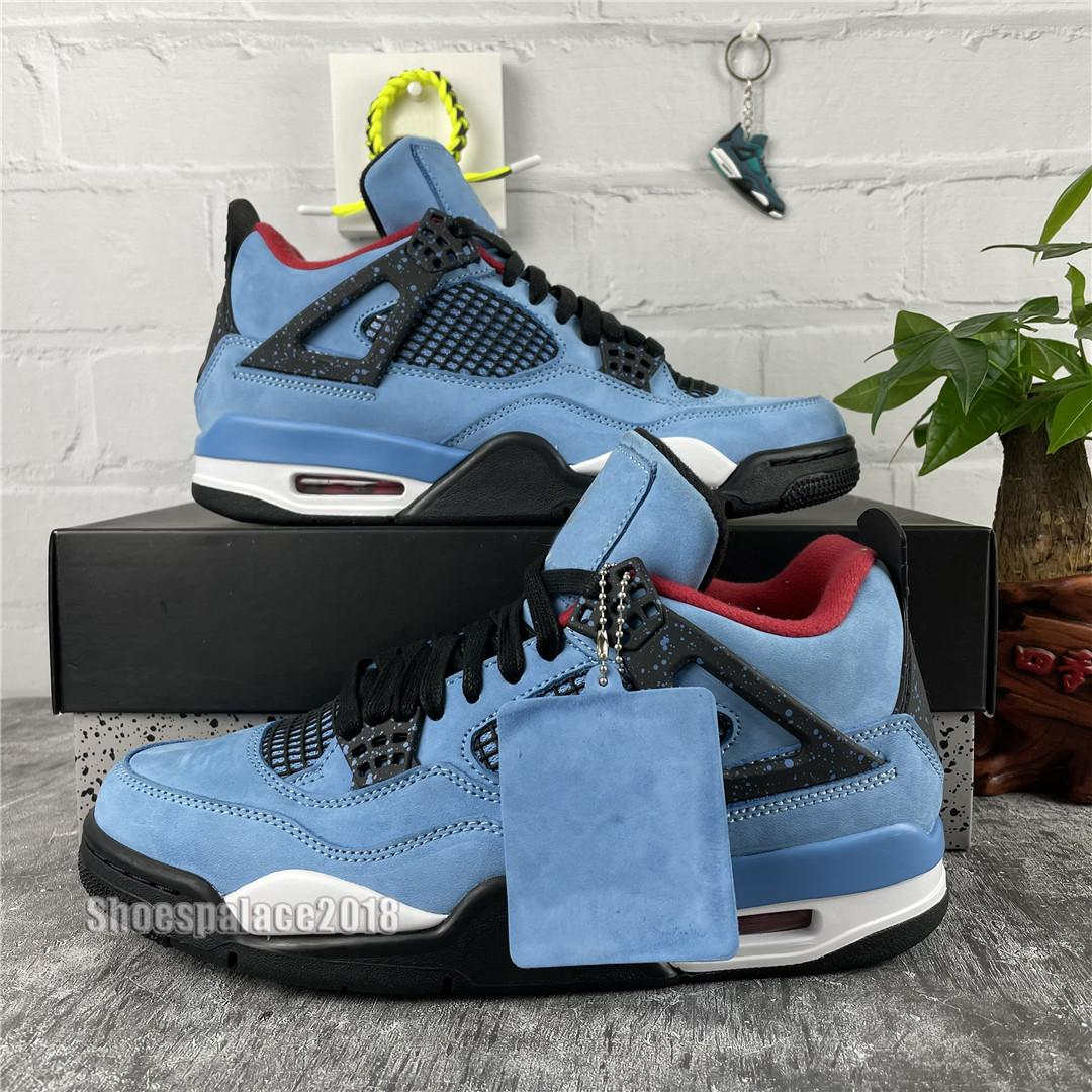 Hombres Zapatos de baloncesto Travis X Diseñador Shoe 4 Houston Oilers 4s Cactus Jack Pure Money Raptors Cemento Black Cat Bred Motosports Sneakers