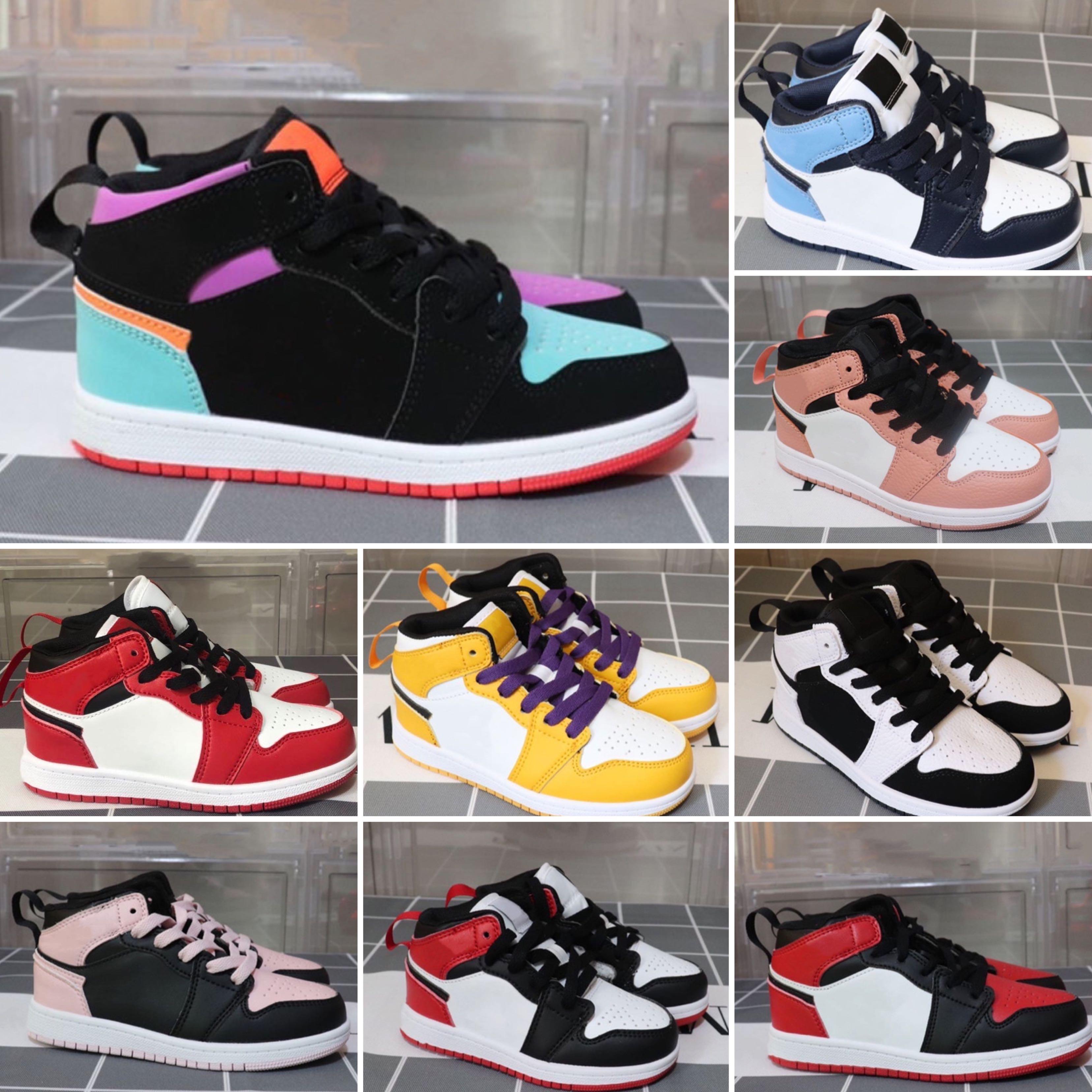 Mädchen Jungen Baby Kleinkind Laufschuhe Luxus Marke Kinder Schuhe 6 Kinder Jungen und Gril Sport Sneaker Leichtathletik Basketball Schuhe