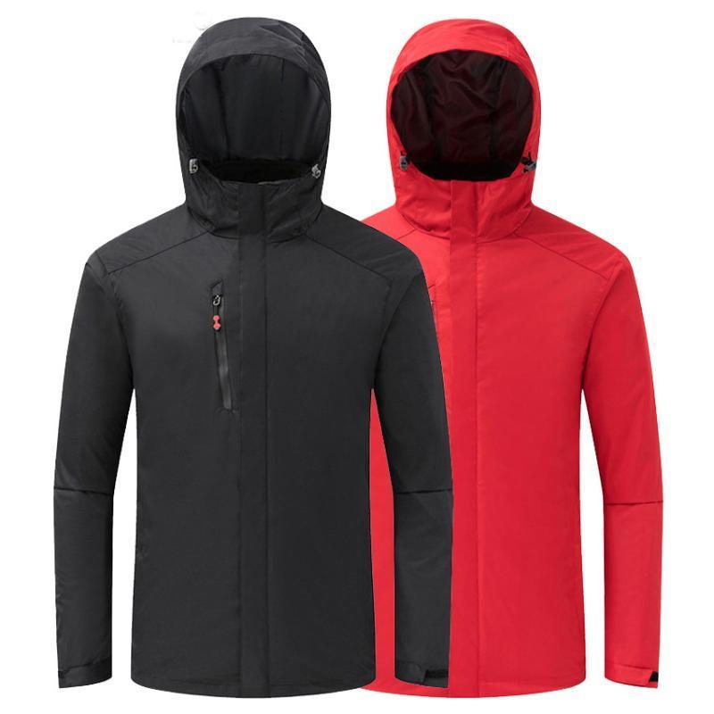 Зимние мужские 2 шт. Softshell Hiking Куртки для прогулки на открытом воздухе Спортивные ветровки Восхоли на кемпинг с капюшоном
