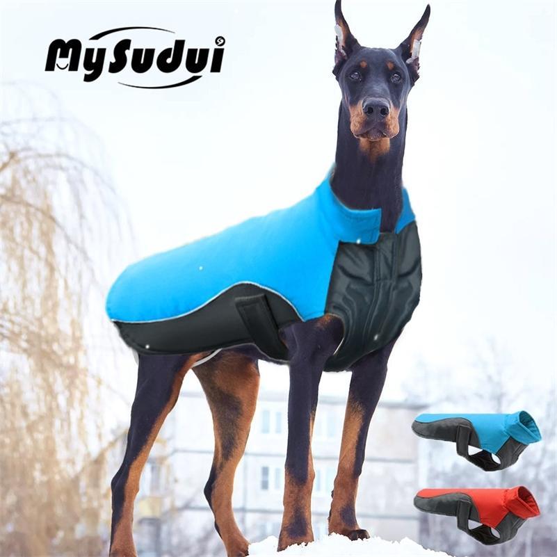 Mysudui Pequeño perro grande Ropa de perro Invierno Impermeable Chihuahua Bulldog Moda Perro Perro Ropa para Perro Abrigo de invierno Cálido Ropa Perro T200624