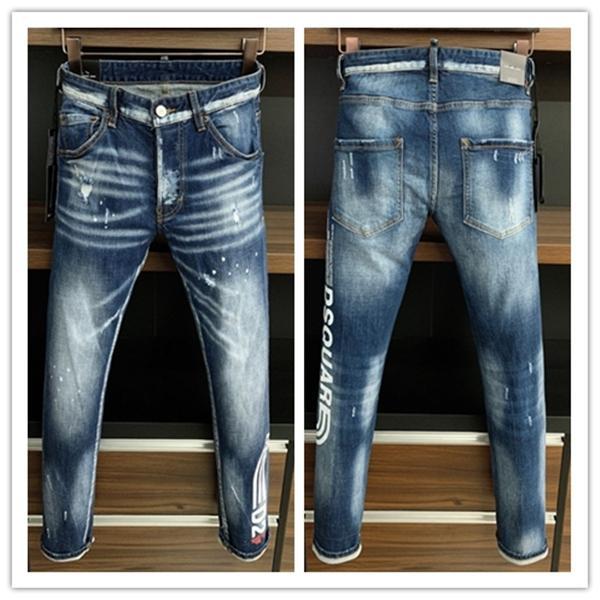2021 Neue Marke von modischen europäischen und amerikanischen Männer Lässigen Jeans, hochwertiges Waschen, reines Handschleifen, Qualitätsoptimierung LA9719