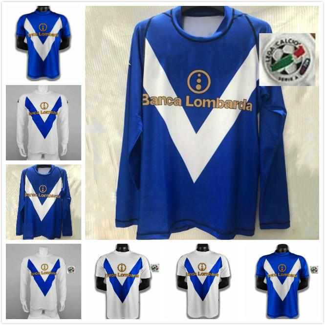 Rétro 03 04 Brescia Calcio Soccer Jerseys Caracciolo Baggio Futbol Camisas Vintage Football Camiseta Classic Kit Maillot 2003 2004