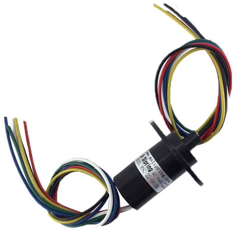 풍력 파워 슬립 링 2/3/4/6 회로 10A 유연 장비 용 전도성 링 예비 부품 직경 21.7mm / 22mm