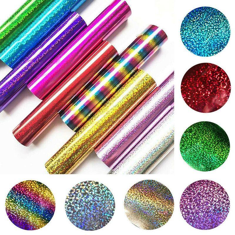 25 * 30 cm glitter trasferimento di calore fogli di vinile glitter htv ferro su vinile per maglietta cricut fai da te 8 colori vibranti di calore premere HTV vinile