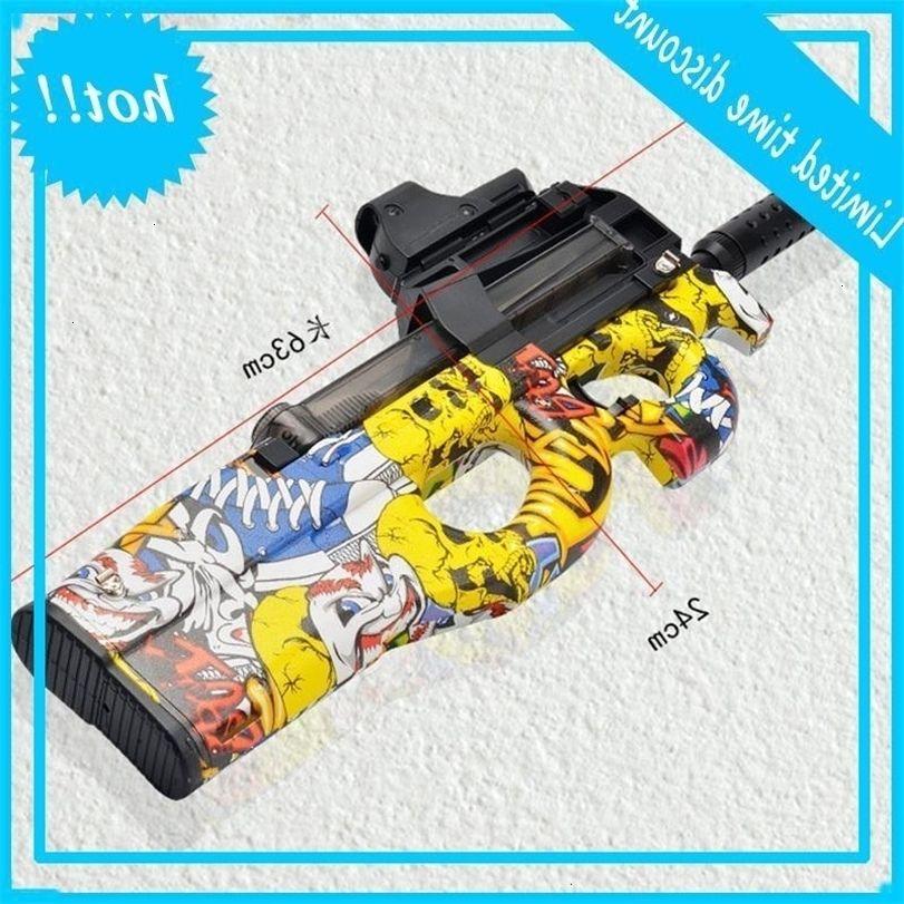 P90 Boys Gun Вода для электрической съемки Детские Полимерные шариковые подарки Игрушки на открытом воздухе Снайпер CS Hydrogel Toy Y200728 Graffiti Game Gel Bygp