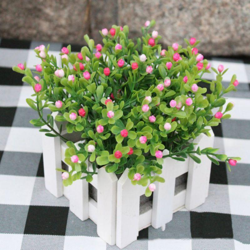 Artificial Flower Green Shrub Plant Suitable For Wedding And Street Decoration Sunshine Beautiful Fresh Natural Practicality nc