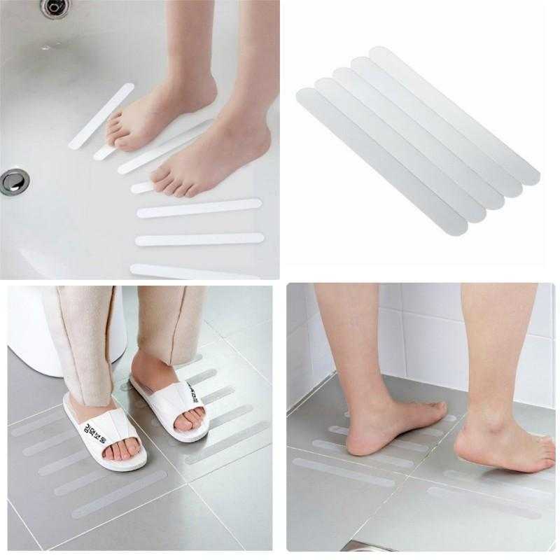 Anti Slip Tape Five Pieces Clothing Shower Room Stairs Steps Bathtub Adhesive Tape Transparent Antiskid Strip Hot Selling 2 5jd P1