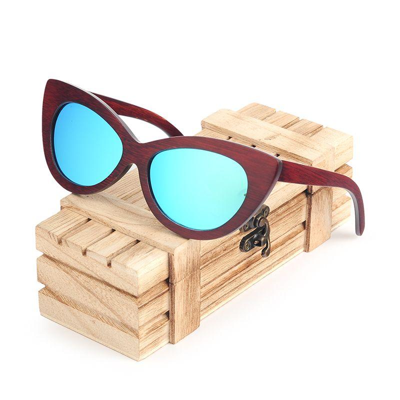 БОБО BIRD Женщины Солнцезащитные очки Цвет объектива Мужчины Вуд очки поляризованные Негабаритные ВС очки UV400