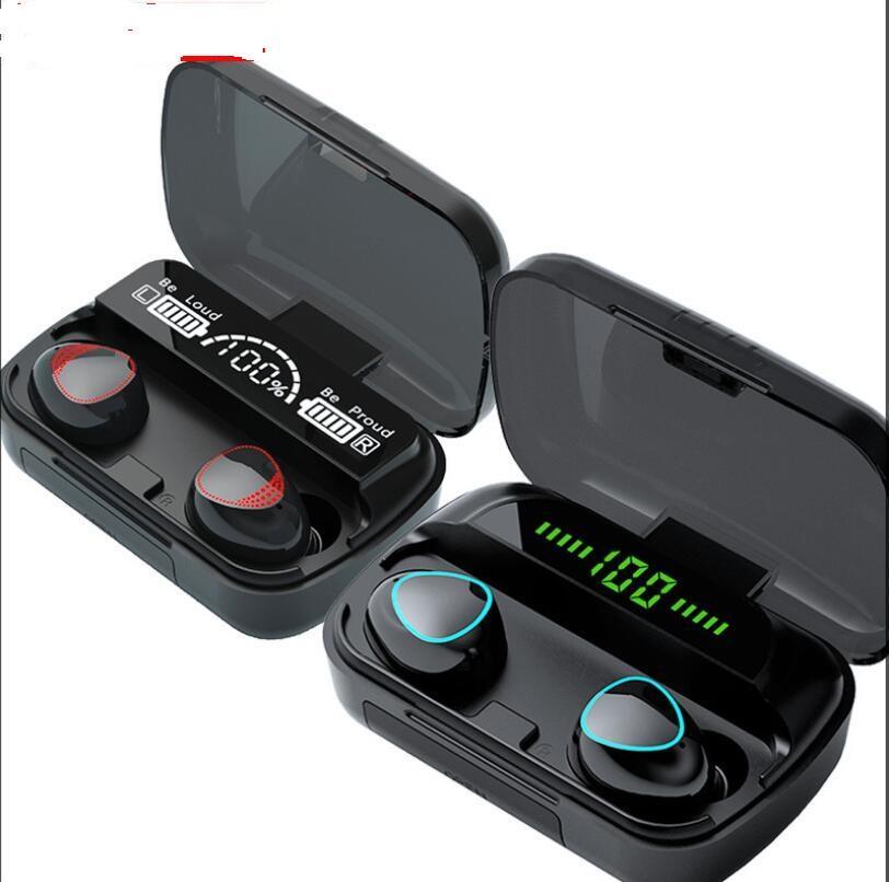 M10 M10A TWS 블루투스 5.1 이어폰 무선 헤드폰 스테레오 스포츠 무선 이어폰 터치 미니 이어 버드 방수 마이크 F9