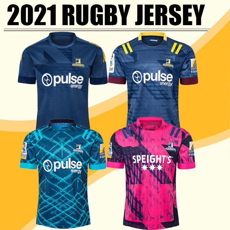 Top Qualität 2020 2021 Kreuzfahrer Blues Highlanders Hurrikane Rugby Jerseys 20 21 Trainingshemden S-5XL