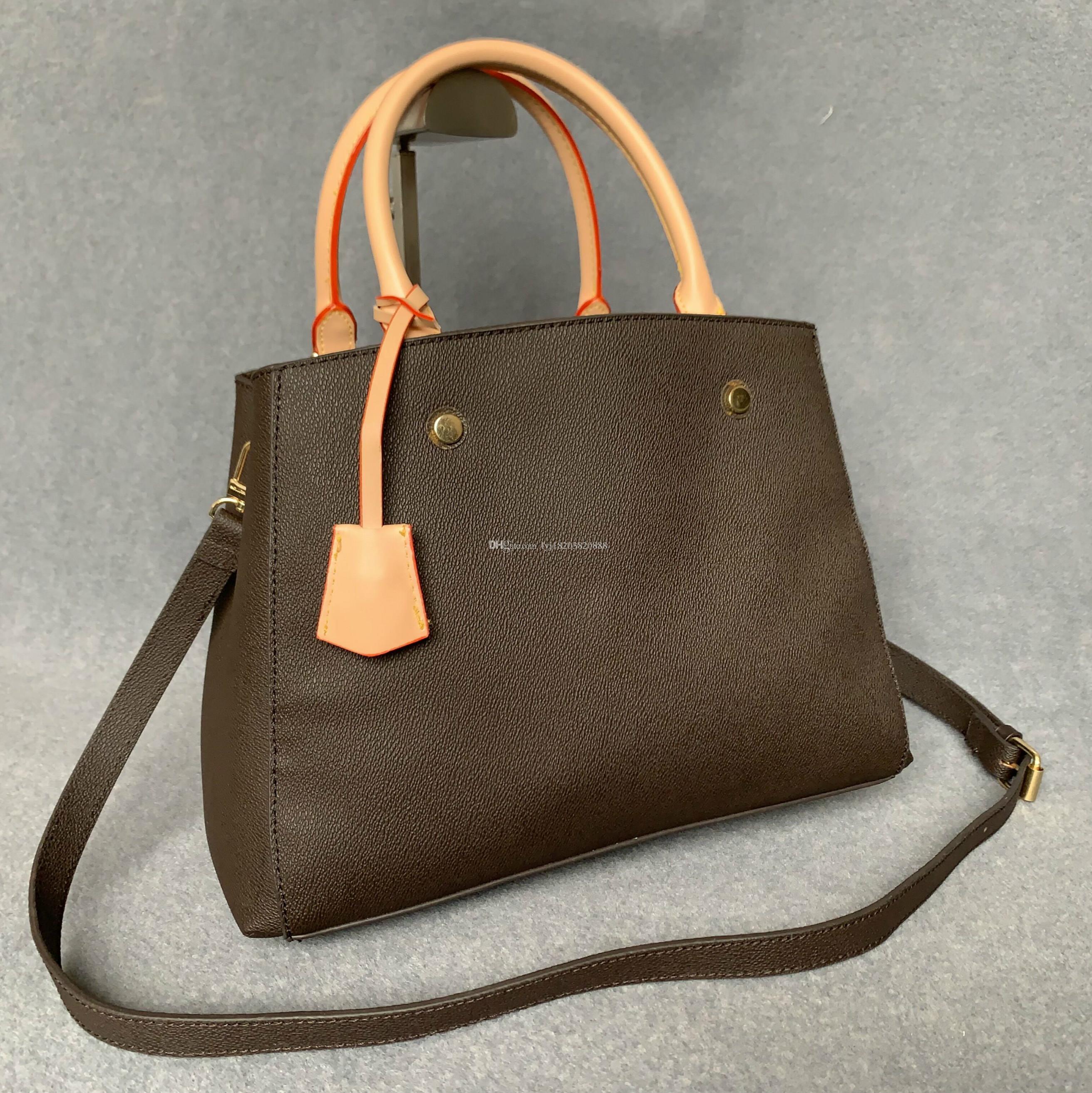 حار مبيعات المصممين الفموي حقائب اليد المحافظ montigne حقيبة المرأة حمل ماركة إلكتروني النقش جلد طبيعي حقائب الكتف حقيبة crossbody