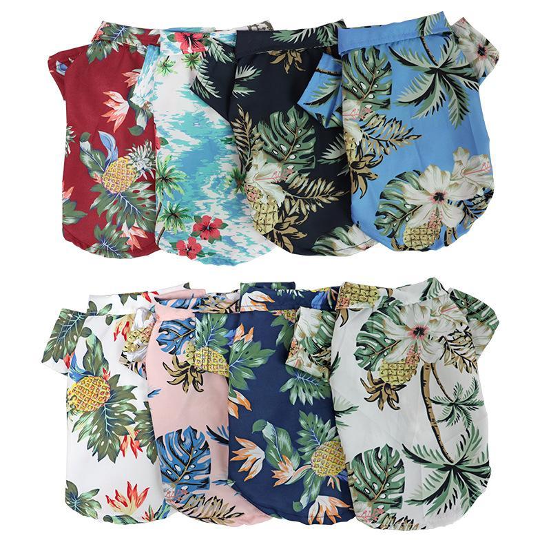 Hundebekleidung Hawaiianische Stil Welpen Haustier Kleidung Sommerkleidung Für kleine mittelgroße Hunde Katzen Kaninchen Manteljacke