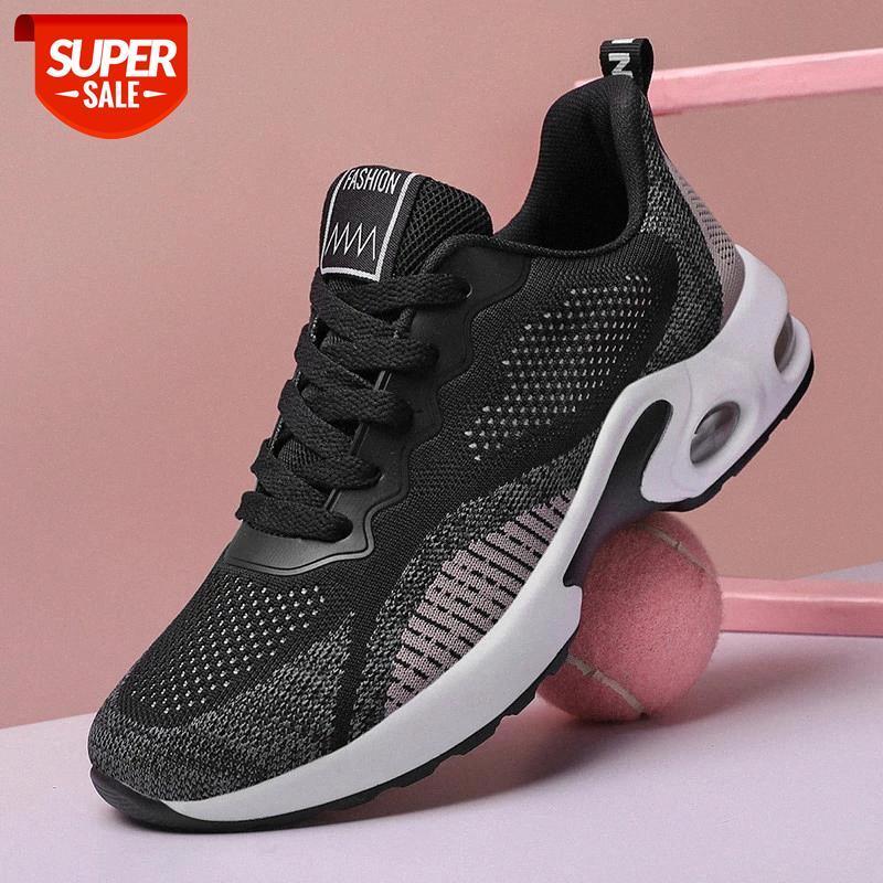 Moda Mujer zapatillas de deporte de primavera Malla de primavera Zapatos ocasionales transpirables Lace Up Sock Trainers Summer Soft Ultra Light Vulcanize Shoesf # xk0s