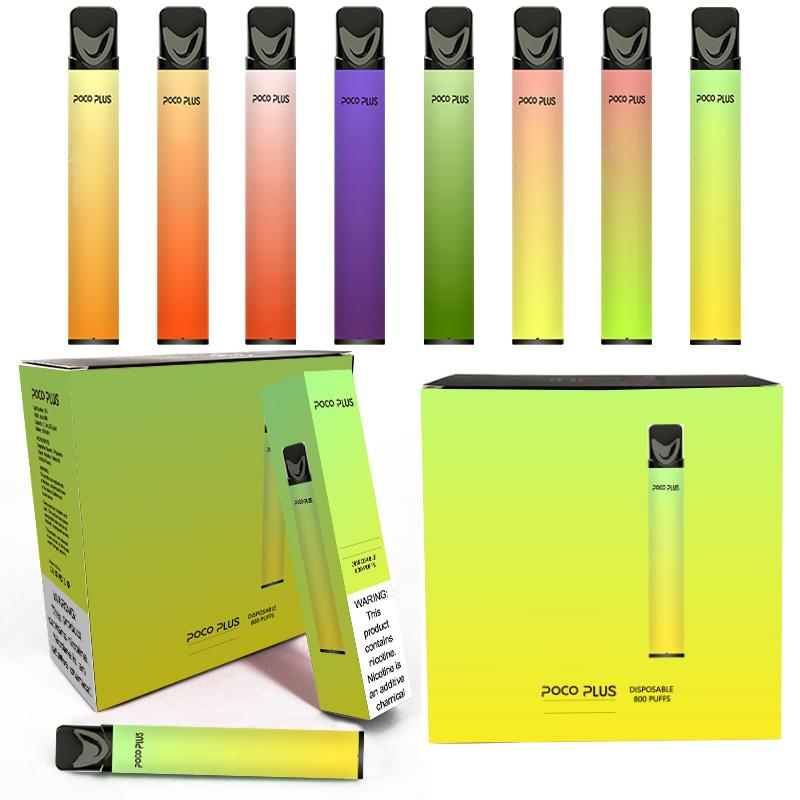 Newest Packaging Puff Bar Disposable vape Device 6ml Pod Kit 800mAh Battery with Security Code puff plus vape pen