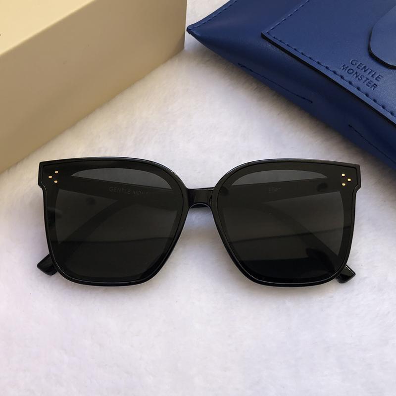 2021 Brand Women GM Occhiali da sole Gentile Designer Grande cornice Elegante Occhiali da sole Elegante moda signora Monster Vintage Star Sunglasses