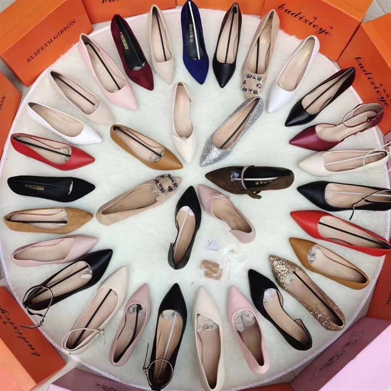 QcUJA Langfristige und Sandalen Verkauf von Mode und Freizeit spitze mittlere Ferse der Frauen einzelner Schuh Saison Frauen nehmen Ferse mis Mode Sandalen