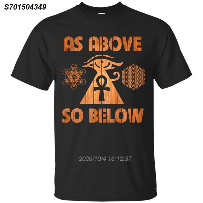 Egyptian Geometria Sagrada As Above So Below Ankh Horus shirt - preto, marinha corlor fresco camiseta orgulho t homens Casual Unisex 2921410