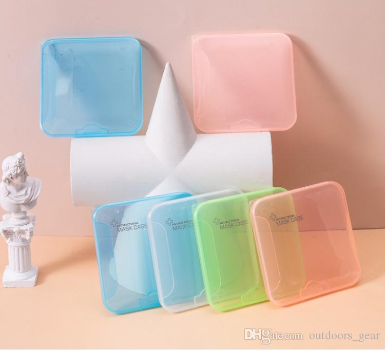 Viso Covering Box Storage Case portatile per riciclabile Mask bagagli clip Maschere corsa esterna Organizer 18 stili Kimter-B221F