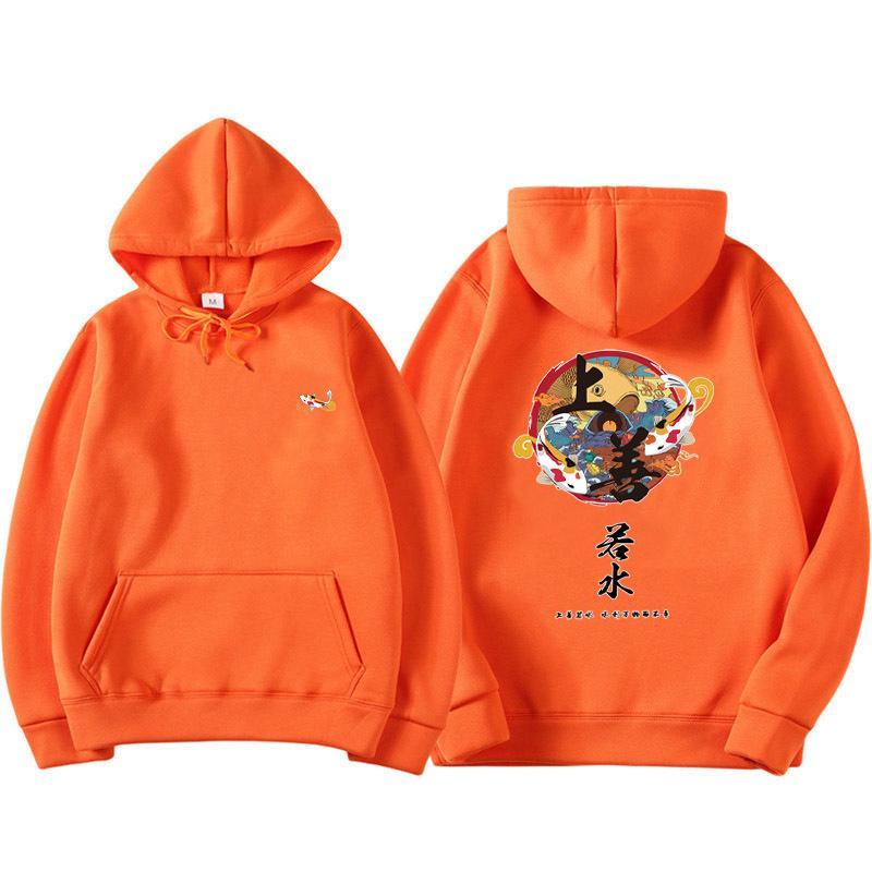 2019 NUEVO Hombre Hip Hop Hoodie sudadera China Ghost Otoño Casual Streetwear Pullover letra Imprimir Sudadera con capucha X1227