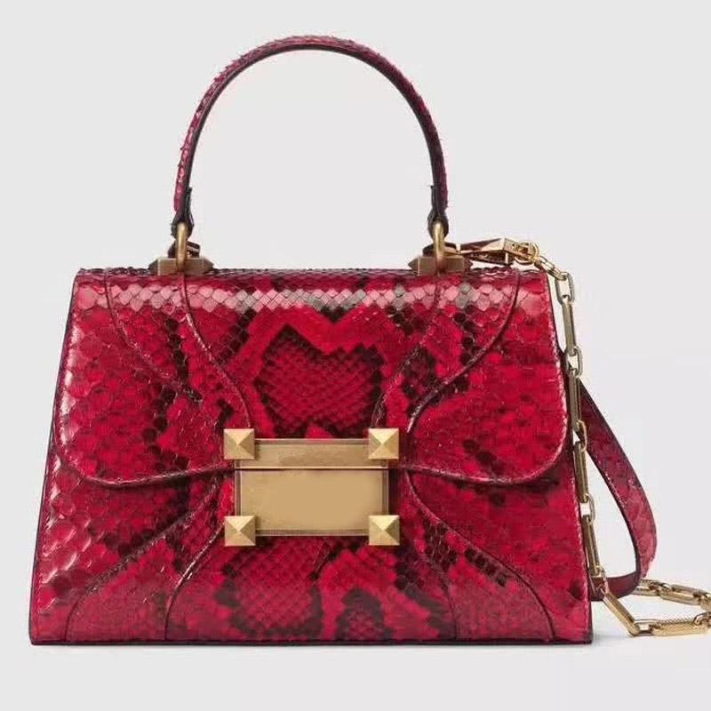 حقائب حقائب crossbody حقائب النساء محافظ أكياس الكلاسيكية عالية الجودة القديمة البرونزية قفل جلد طبيعي سلسلة رفرف حقيبة غلق بمشبك المرقعة