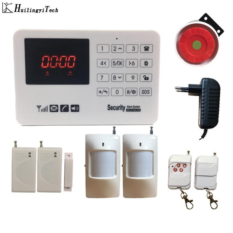 Koru Sistemi Hırsız HuilingyiTech Ev Güvenlik Alarm Sistemi Dokunmatik Ekran Kontrolü İş Alarmı