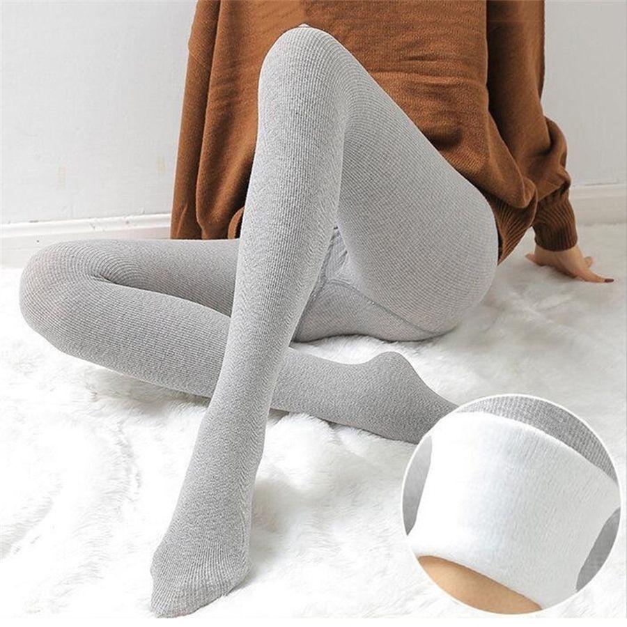 -20 Pantaloni di cashmere invernali femminili Donne Plus Velvet Addensare Donne Leggings Vita alta Donne calde Jeggings Sportswear Femme 201126