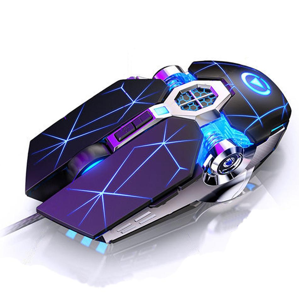 Professional Wired Gaming Mouse Mouse 7 Button 3200DPI LED USB Usb Computer Mouse Mouse Mouse Motici Mappa del mouse Silent Mause per PC Laptop Gamer G3os