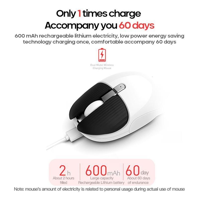 Mini Portable Wireless Mouse 1200DPI Silent 3Buttons Optical Mouse with Nano Receiver Home Office For PC Laptop Computer