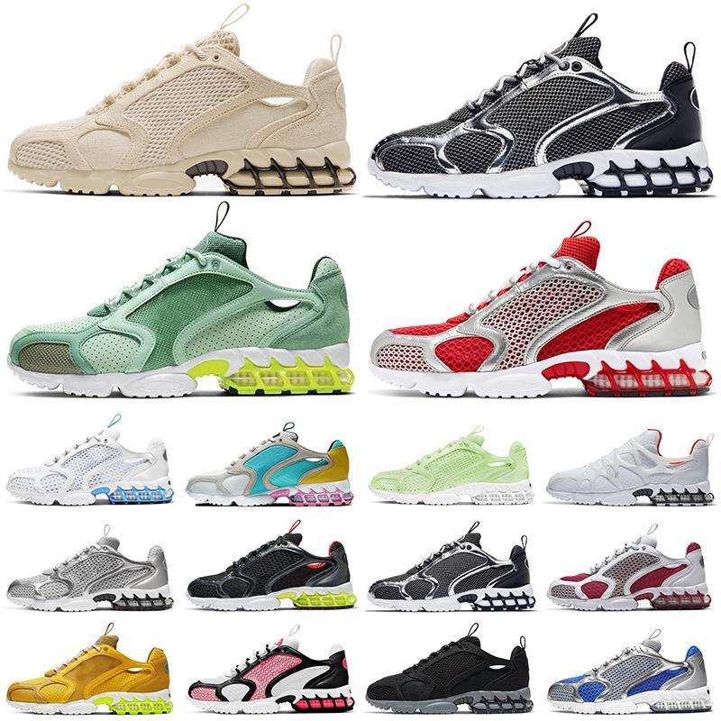 حذاء الجري stussy zoom spiridon cage 2 Kukini  Pure Platinum Lemon Venom des chaussures أحذية رياضية للرجال والنساء