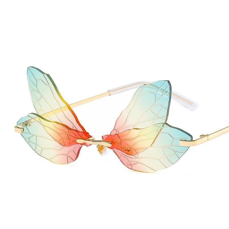 Lunettes de soleil Fashion Butterfly Femmes Hommes Quality Souvenu Détails Trend Marque Designer Luxe Sun Lunettes UV400