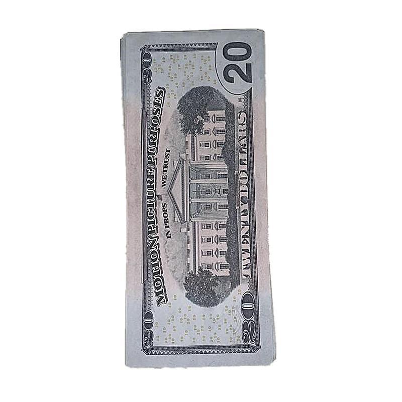 Kinder US-Währung JPQQB 100pcs / Pack Show 4F Schießen Schneller Spielzeug Geld Requisiten Film Dollar Bill Geschenk Magie Gefälschte Verschiffen Kopie Sjhaq