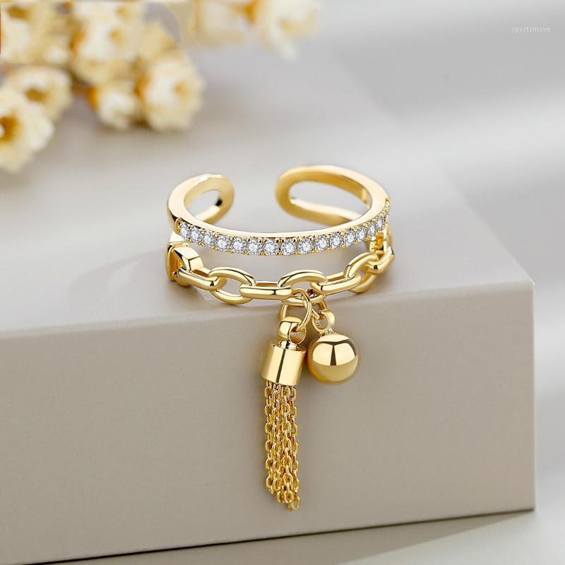 NPKDS Elegant Öffnung Ring Hängen Baumeln Asymmetrische Ringe Böhmische Vintage Stud Ringe Hohe Qualität1
