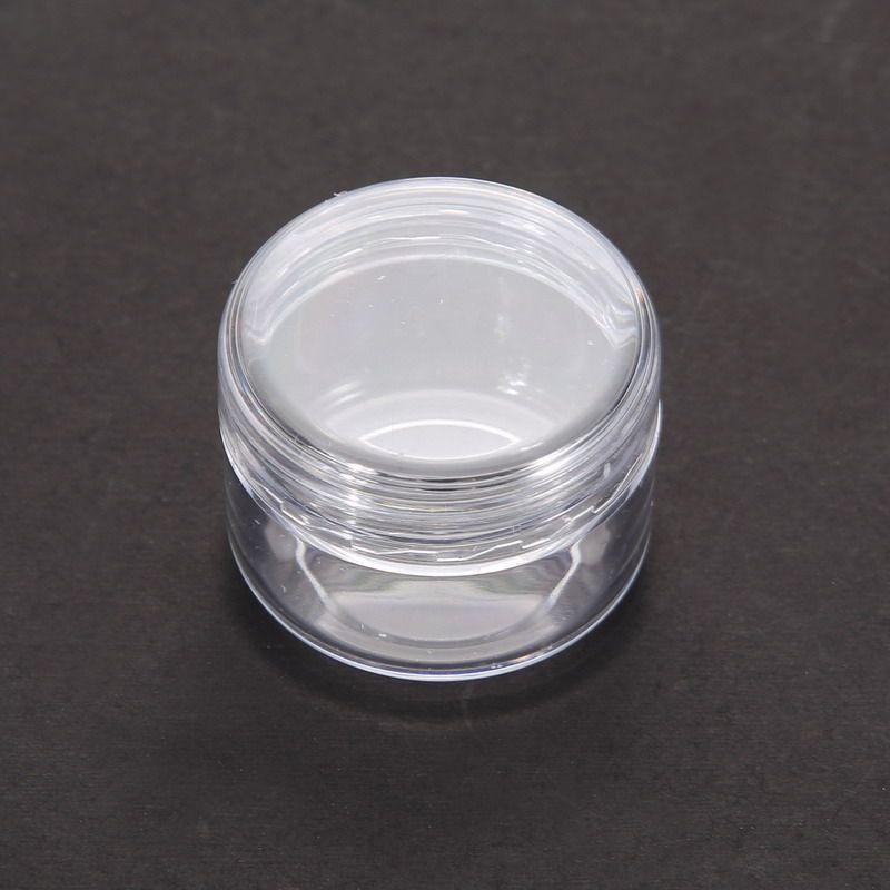 1 قطعة واضحة البلاستيك التجميل عينة حاوية 5 جرام جرة وعاء صغير فارغة التخييم السفر عينيه الوجه كريم الشفاه بلسم زجاجة 5 ملليلتر