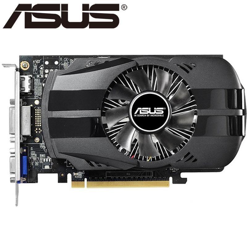 ASUS بطاقة الفيديو الأصلي GTX 750Ti 2GB GDDR5 128Bit بطاقات الرسومات لنفيديا غيفورسي GTX 750 تي المستخدمة بطاقات VGA 650 760 1050