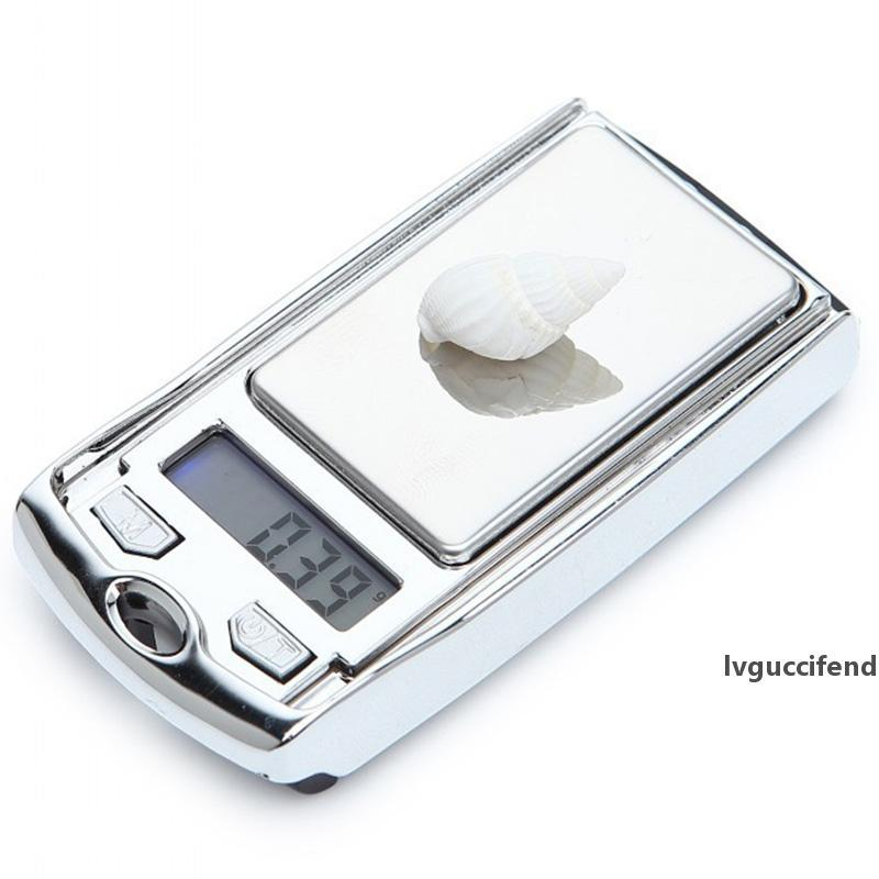 Mini escala electrónica de la alta precisión de 0,01 gramos joyería exacto portable Digital Escalas de múltiples funciones Pequeña Escala de bolsillo del oro BH1855 ZX